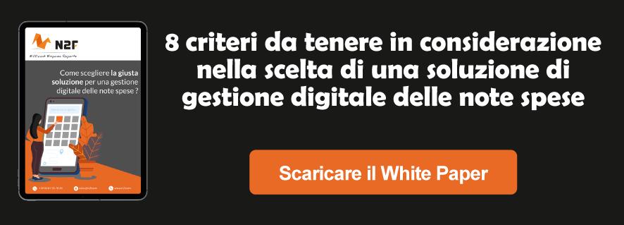 WHITE PAPER Come scegliere la giusta soluzione per una gestione digitale delle note spese ?