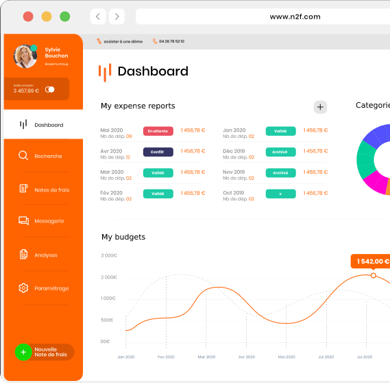 N2F Expense report management software